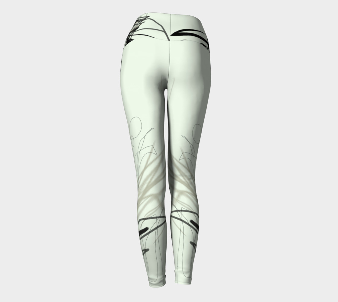 Abstract Calligraphy Oneness Yoga Pants preview #4