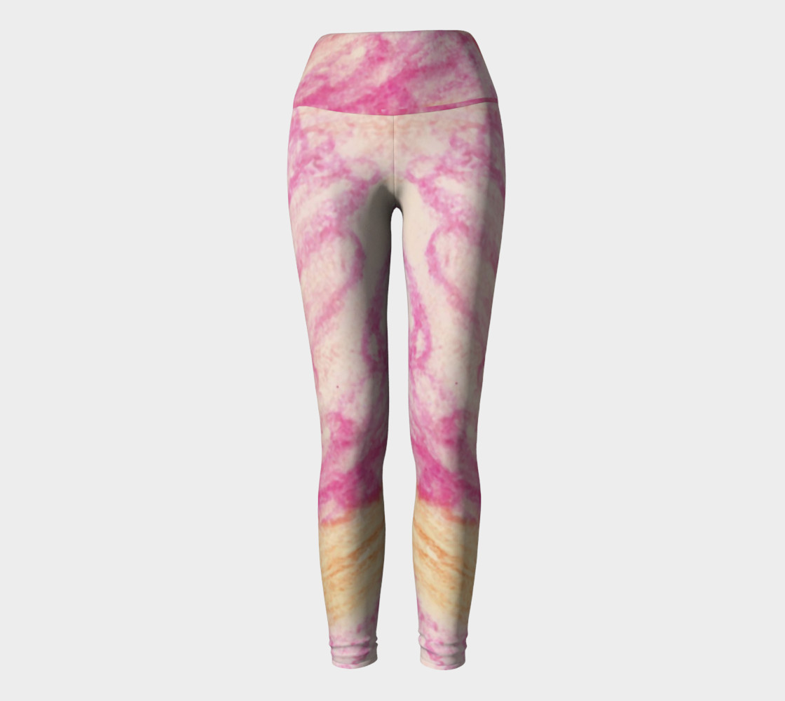 Pink Flowerets Yoga Leggings preview #2