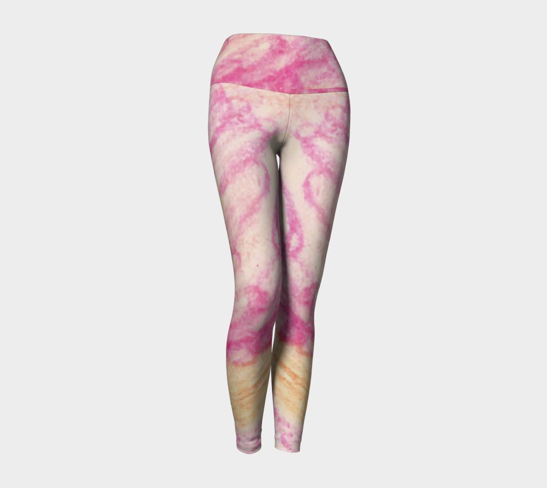 Pink Flowerets Yoga Leggings preview #1