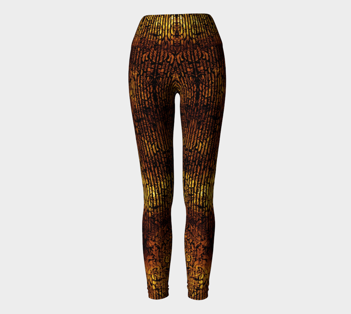 Golden Gate Damask Goth Print by Tabz Jones preview #2