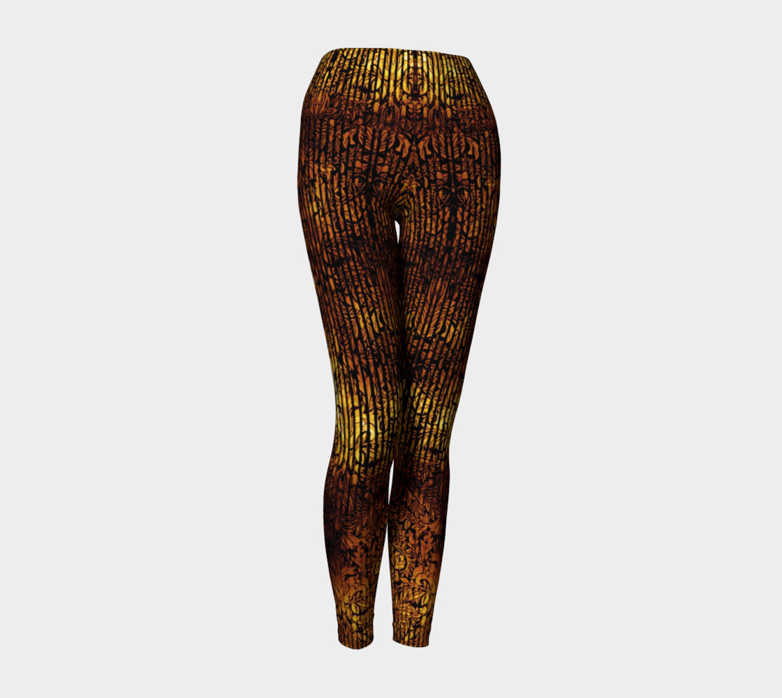 Golden Gate Damask Goth Print by Tabz Jones preview #1