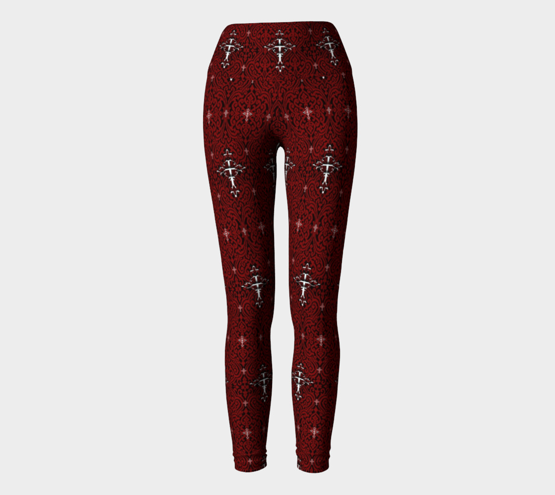 Aperçu de Silver Cross Vampire Damask Gothic Leggings  #2
