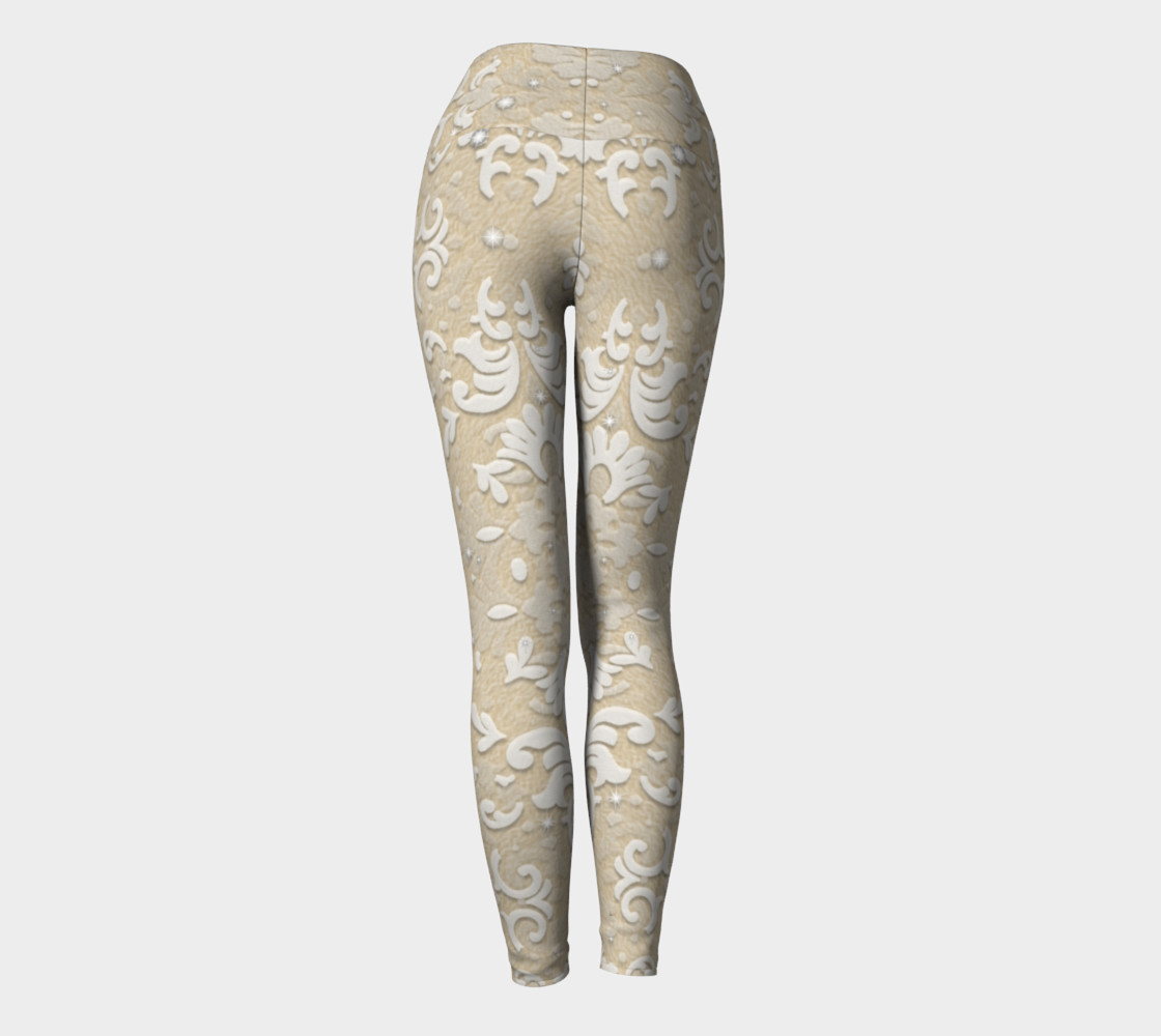Nude Glitter Lace Leggings by Tabz Jones  preview #4