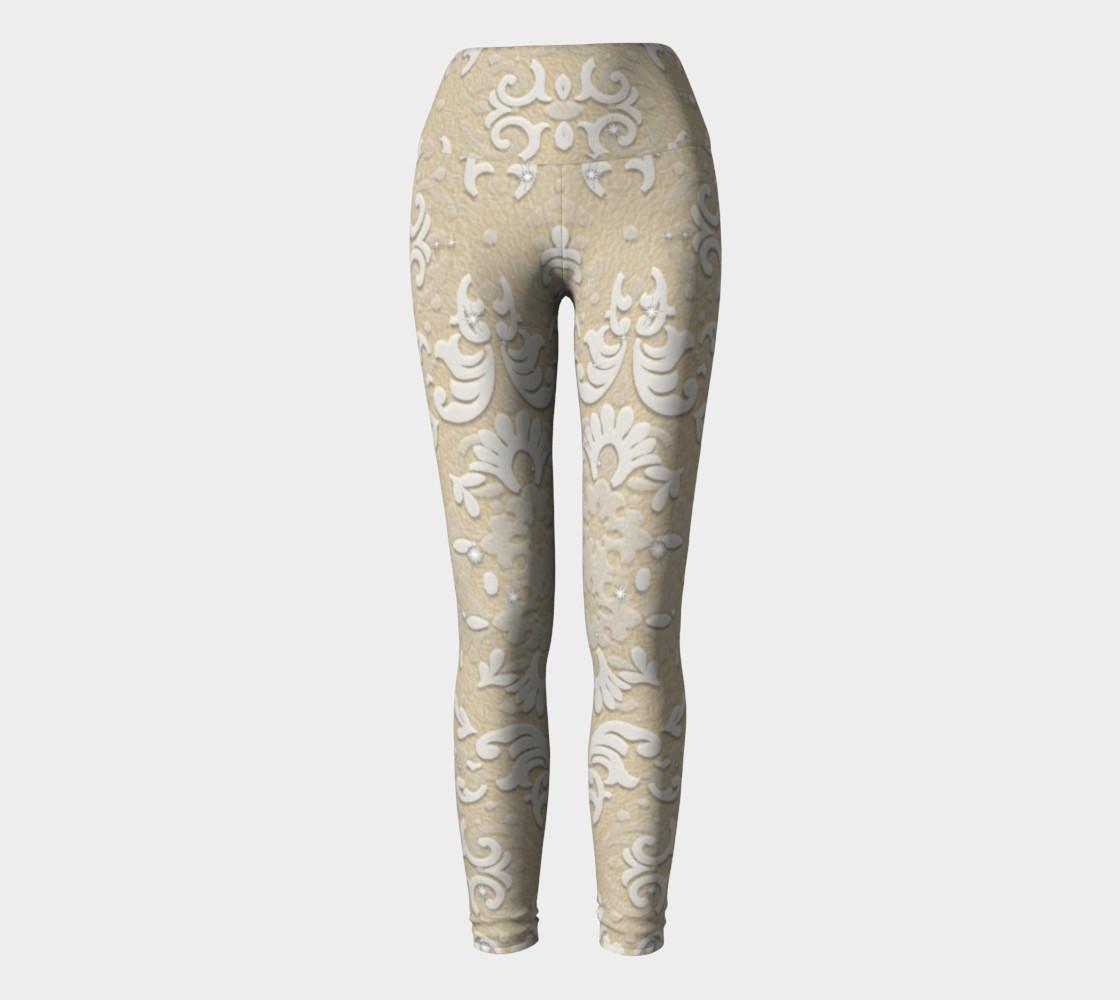 Nude Glitter Lace Leggings by Tabz Jones  preview #2