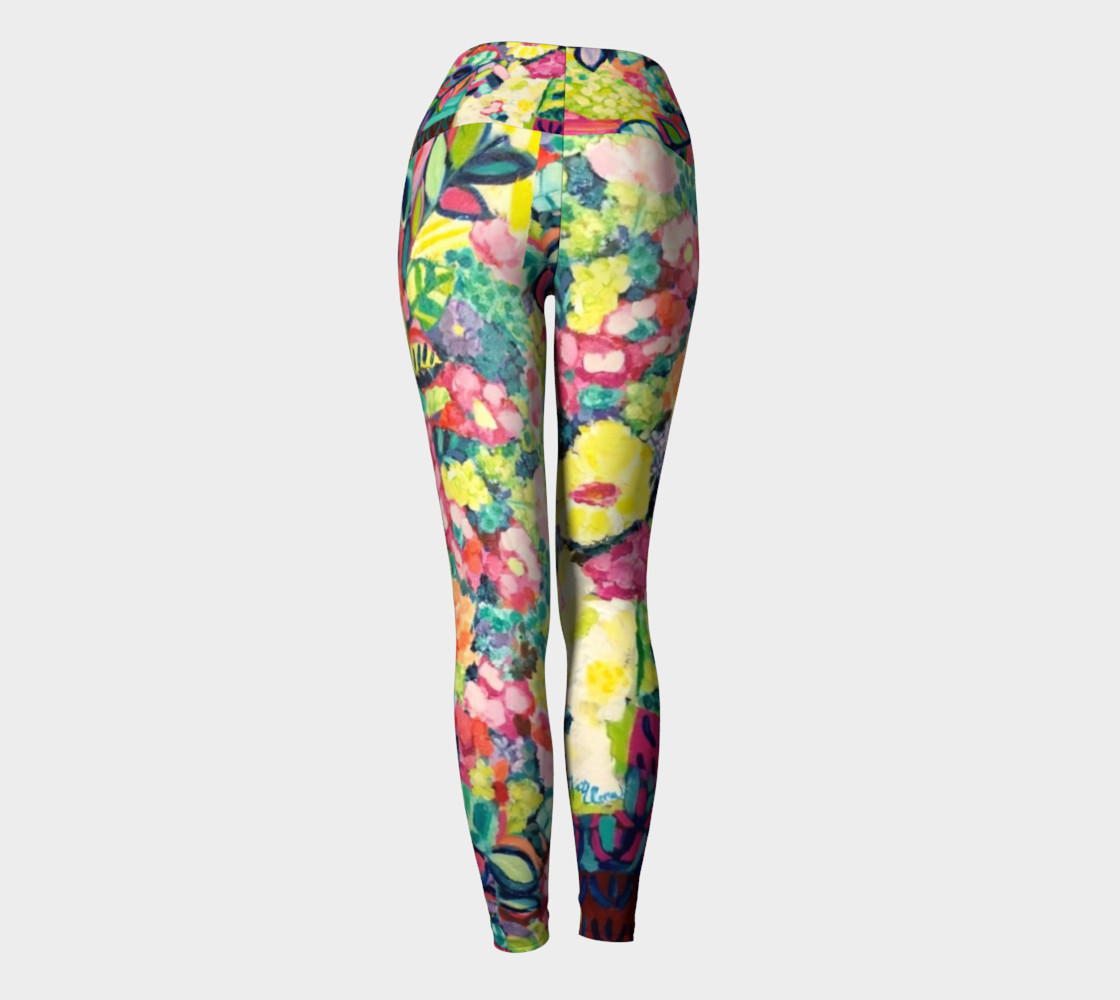 Party Flowers- Yoga Leggings preview #4