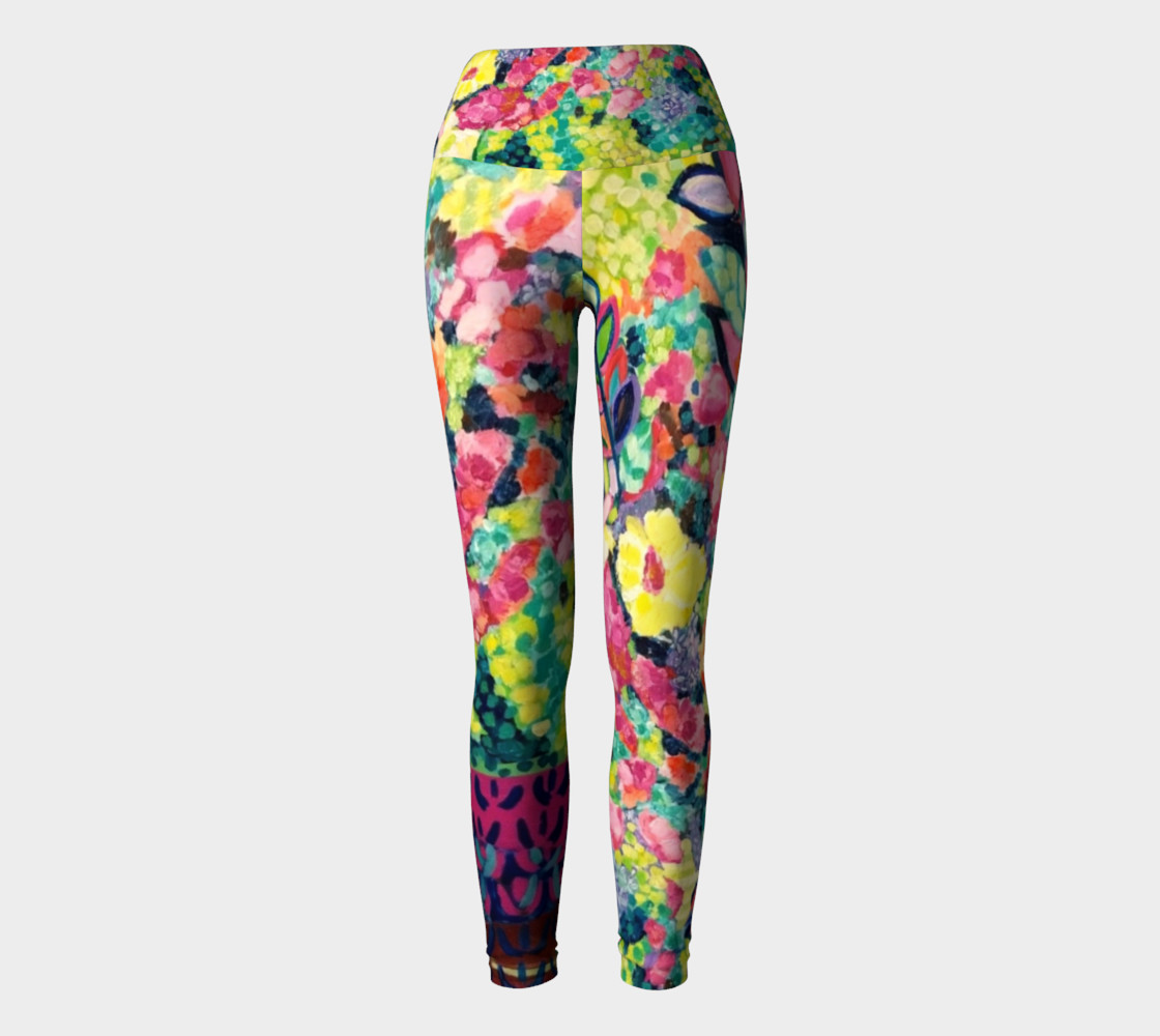 Party Flowers- Yoga Leggings preview #2