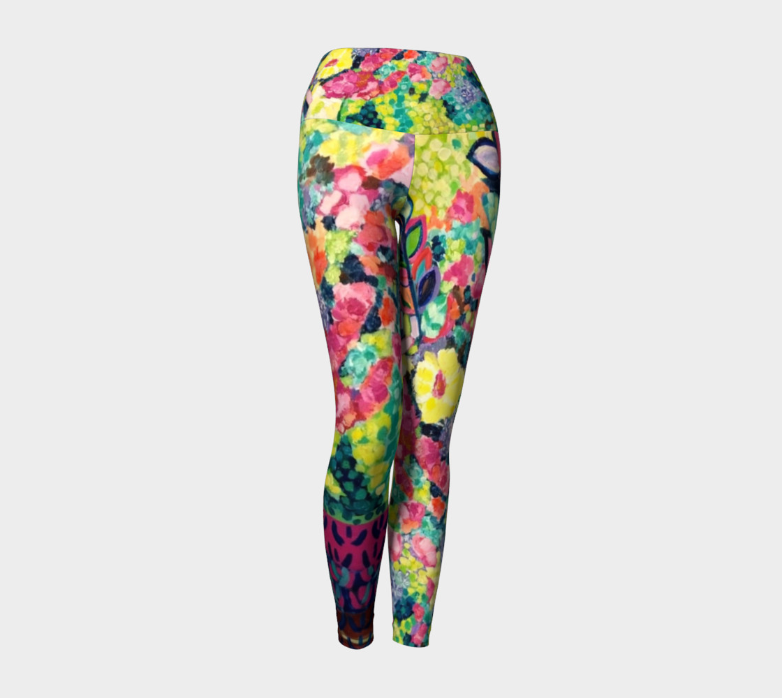 Party Flowers- Yoga Leggings preview #1