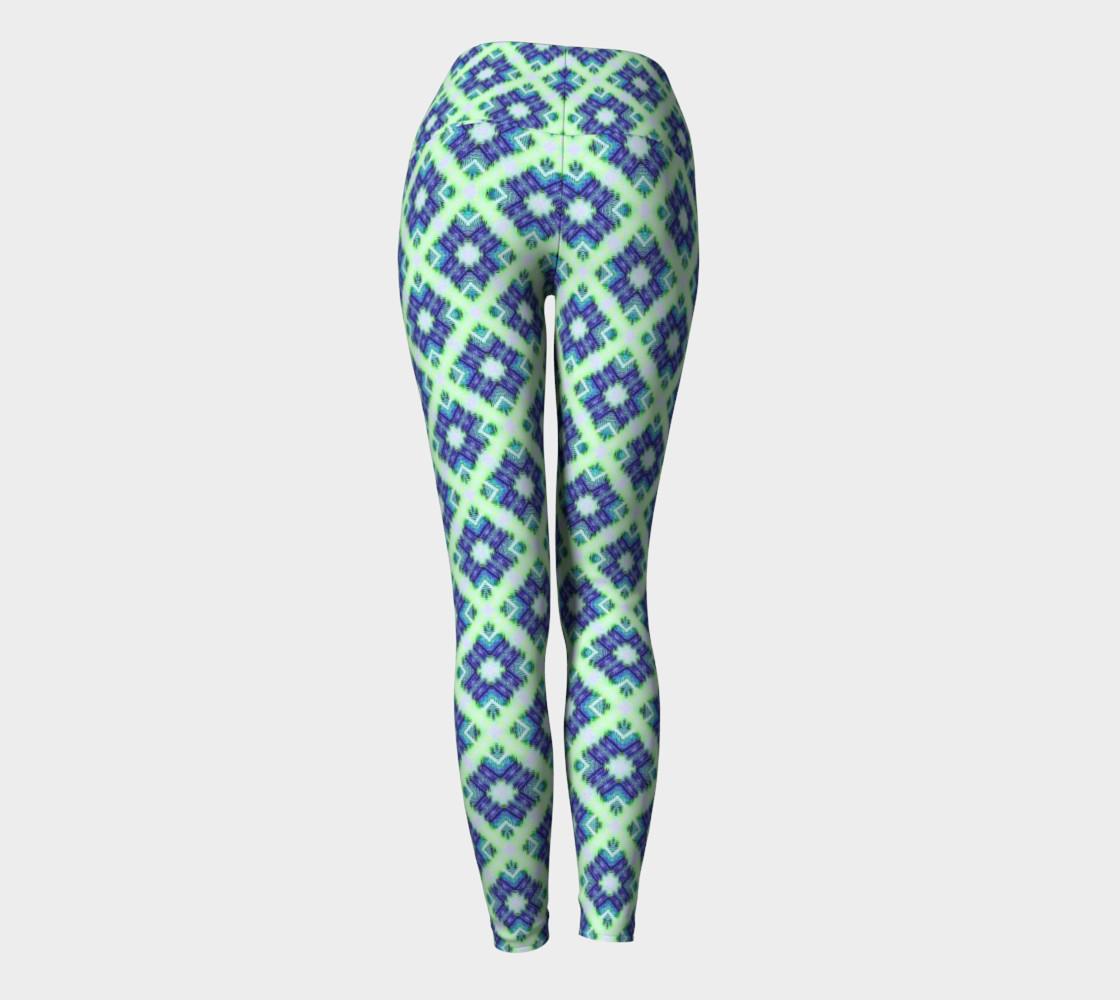 Blue Green Crisscross Pattern  preview #4