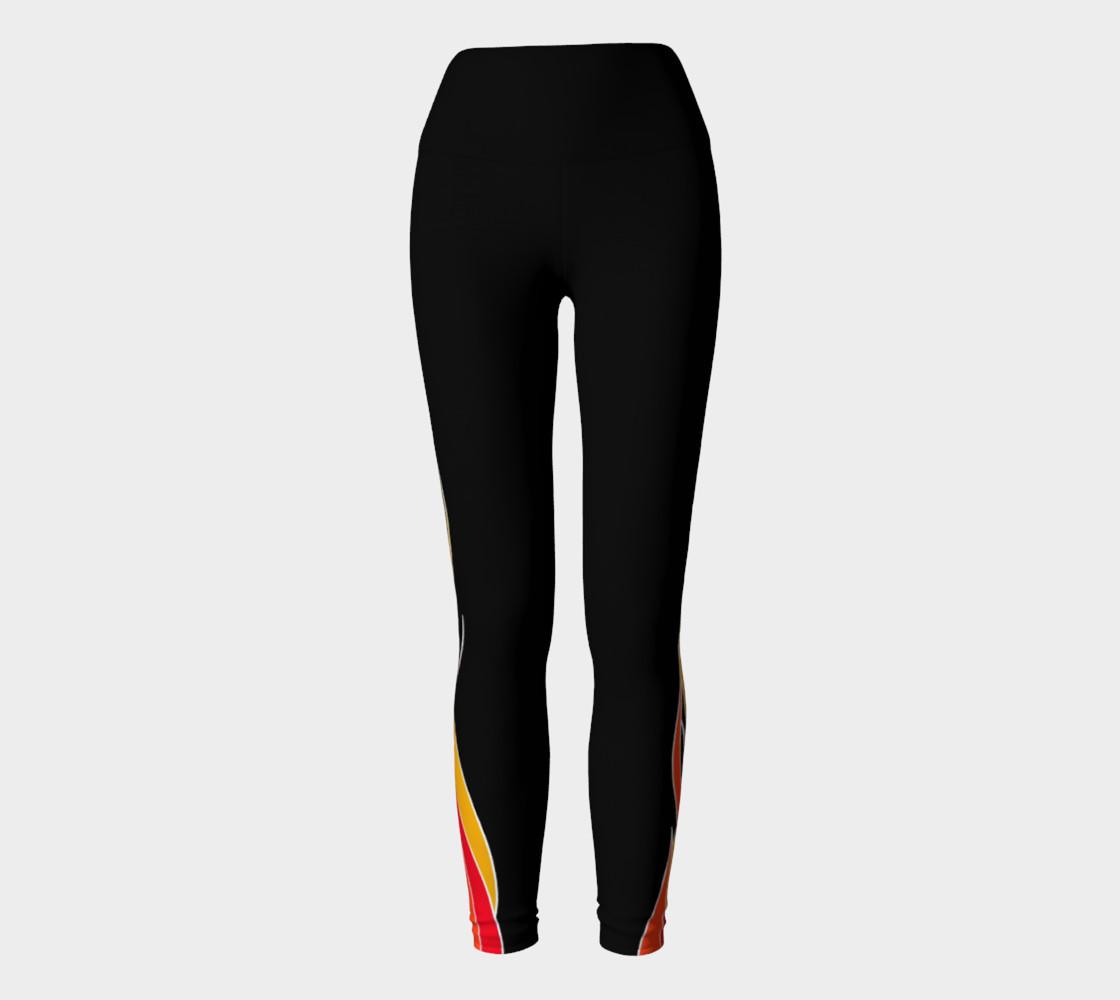 Flaming Yoga Leggings preview #2