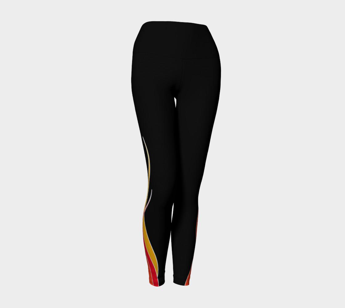 Flaming Yoga Leggings preview #1