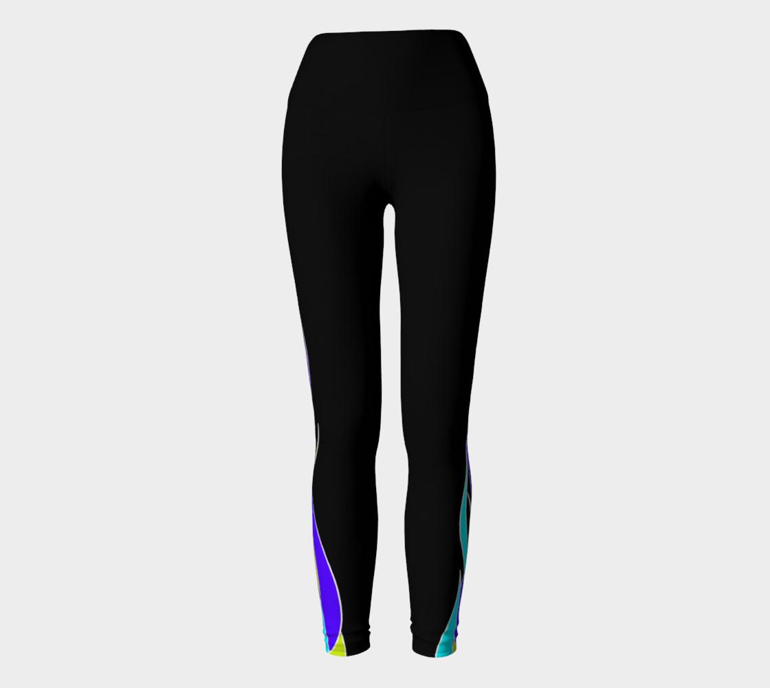 Blue Flame Yoga Leggings preview #2