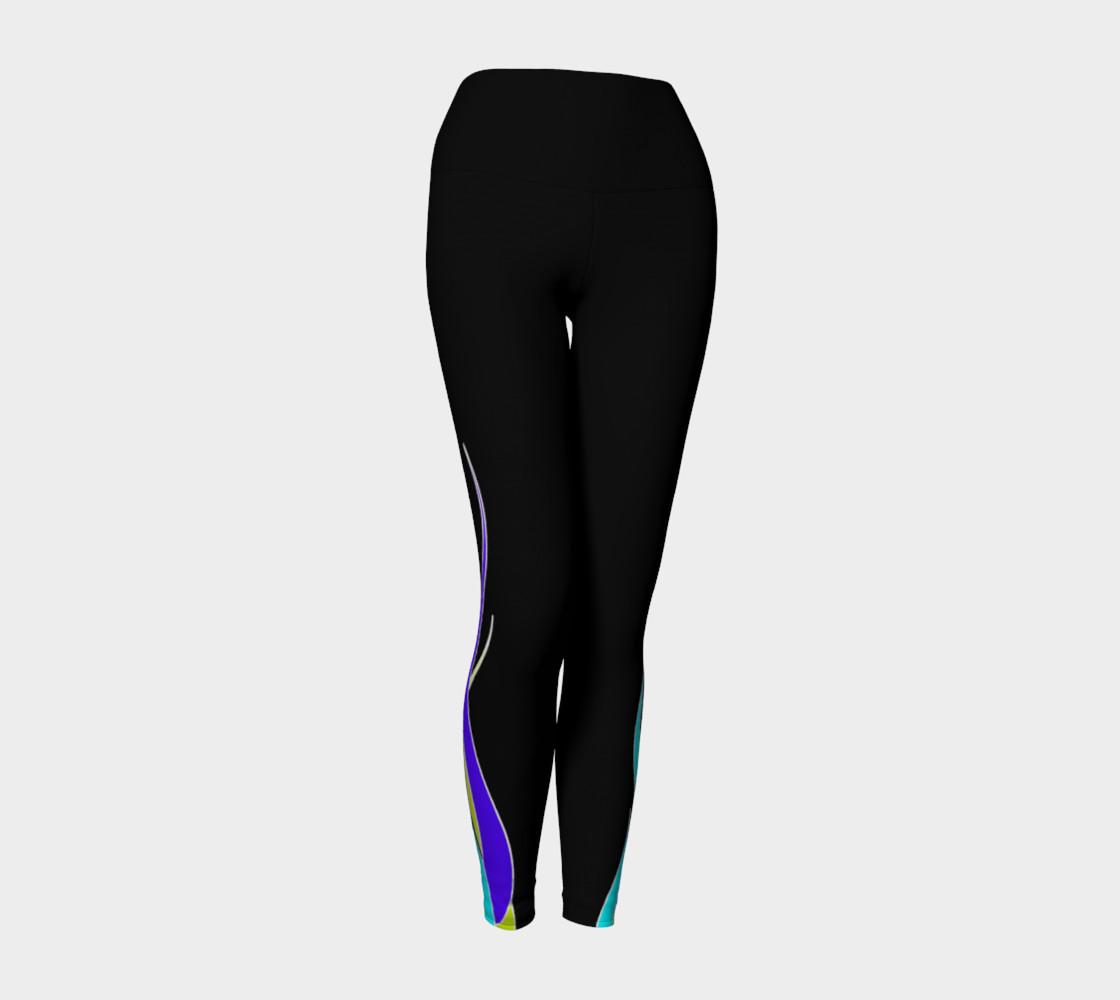 Blue Flame Yoga Leggings preview #1