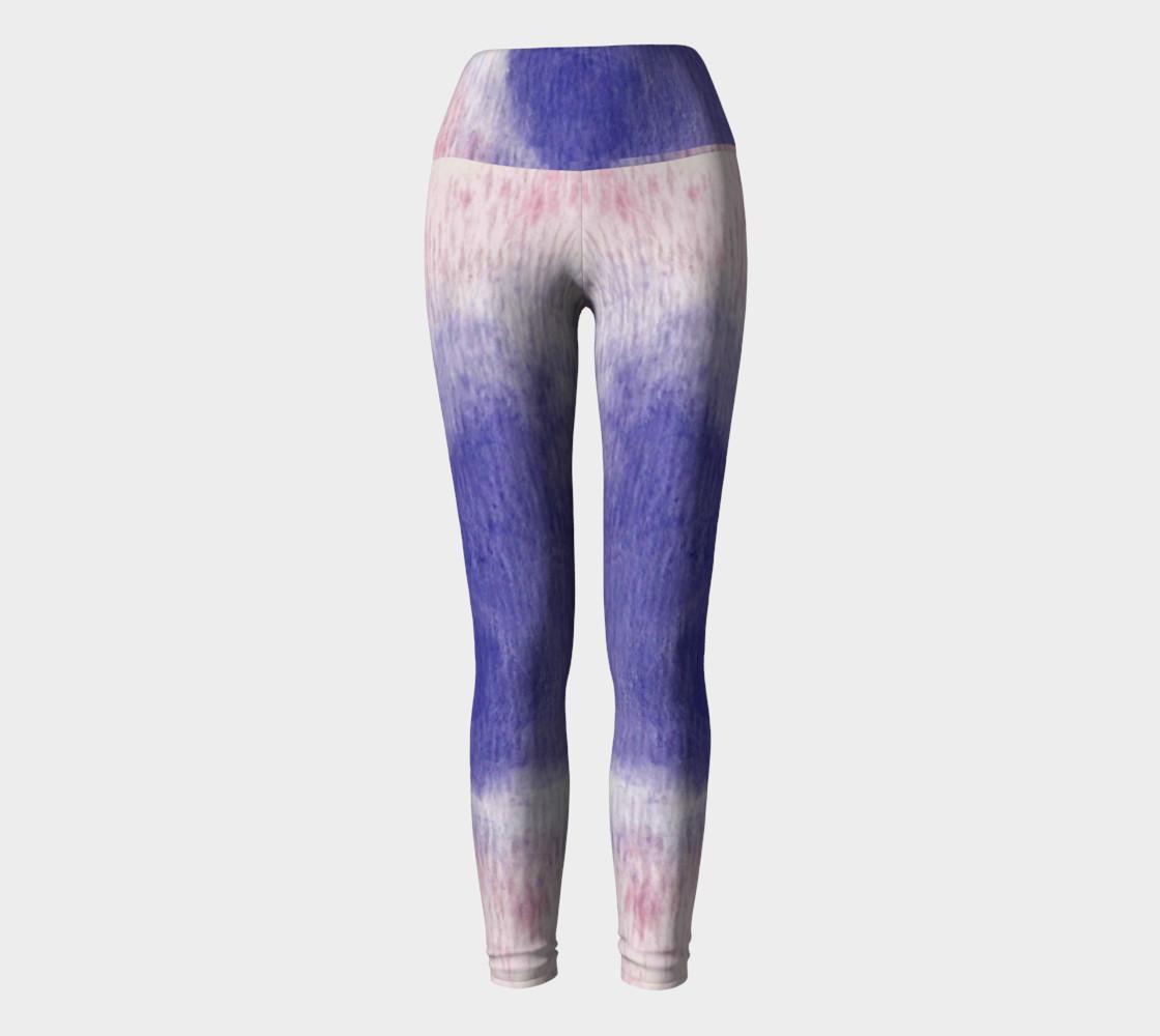 Pastel Floral Dream Yoga Leggings preview #2