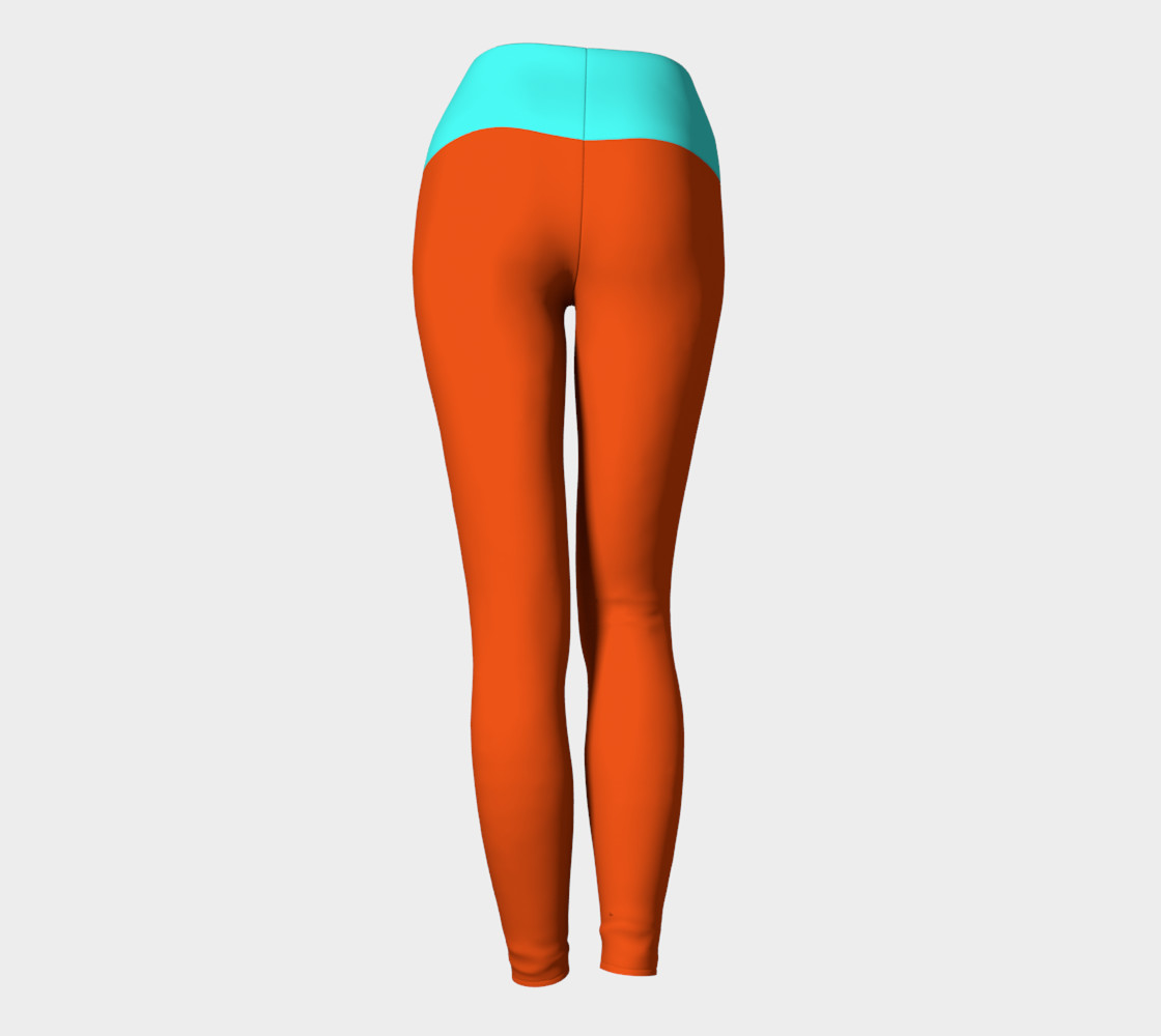 Pumpkin and Mint Yoga Leggings preview #4