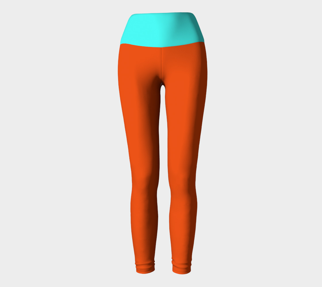 Pumpkin and Mint Yoga Leggings preview #2