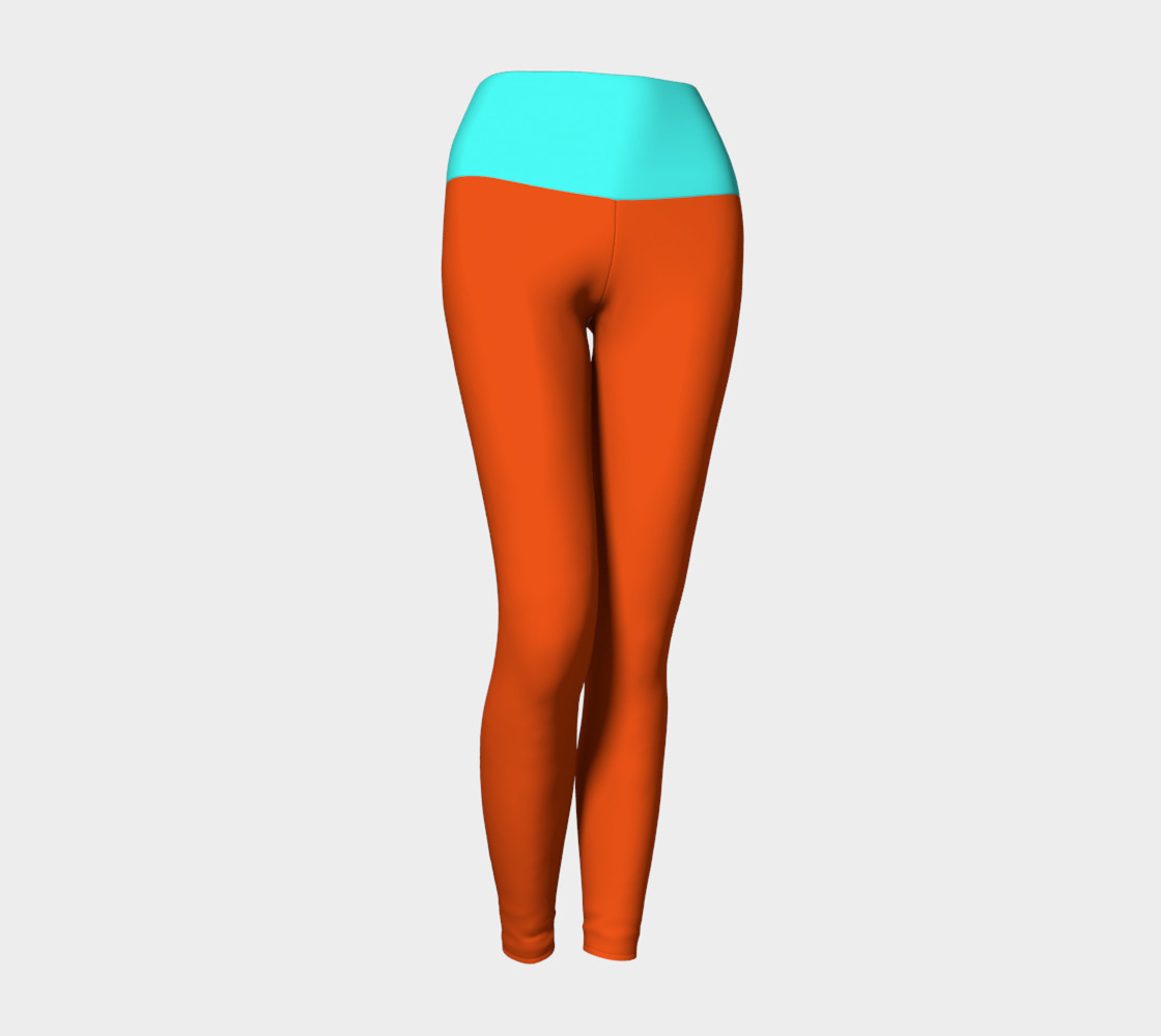 Pumpkin and Mint Yoga Leggings preview #1
