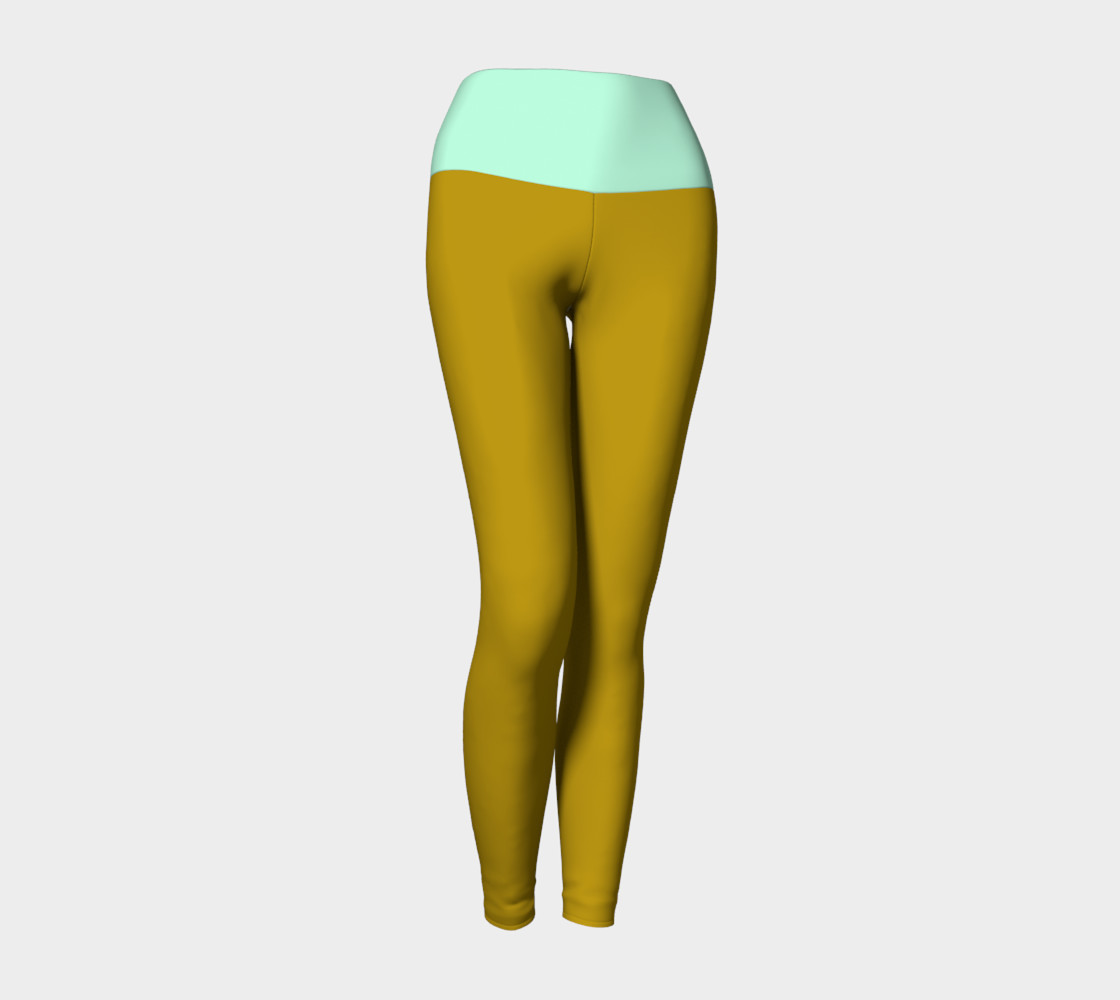 Cappuccino and Pistachio Yoga Leggings 3D preview