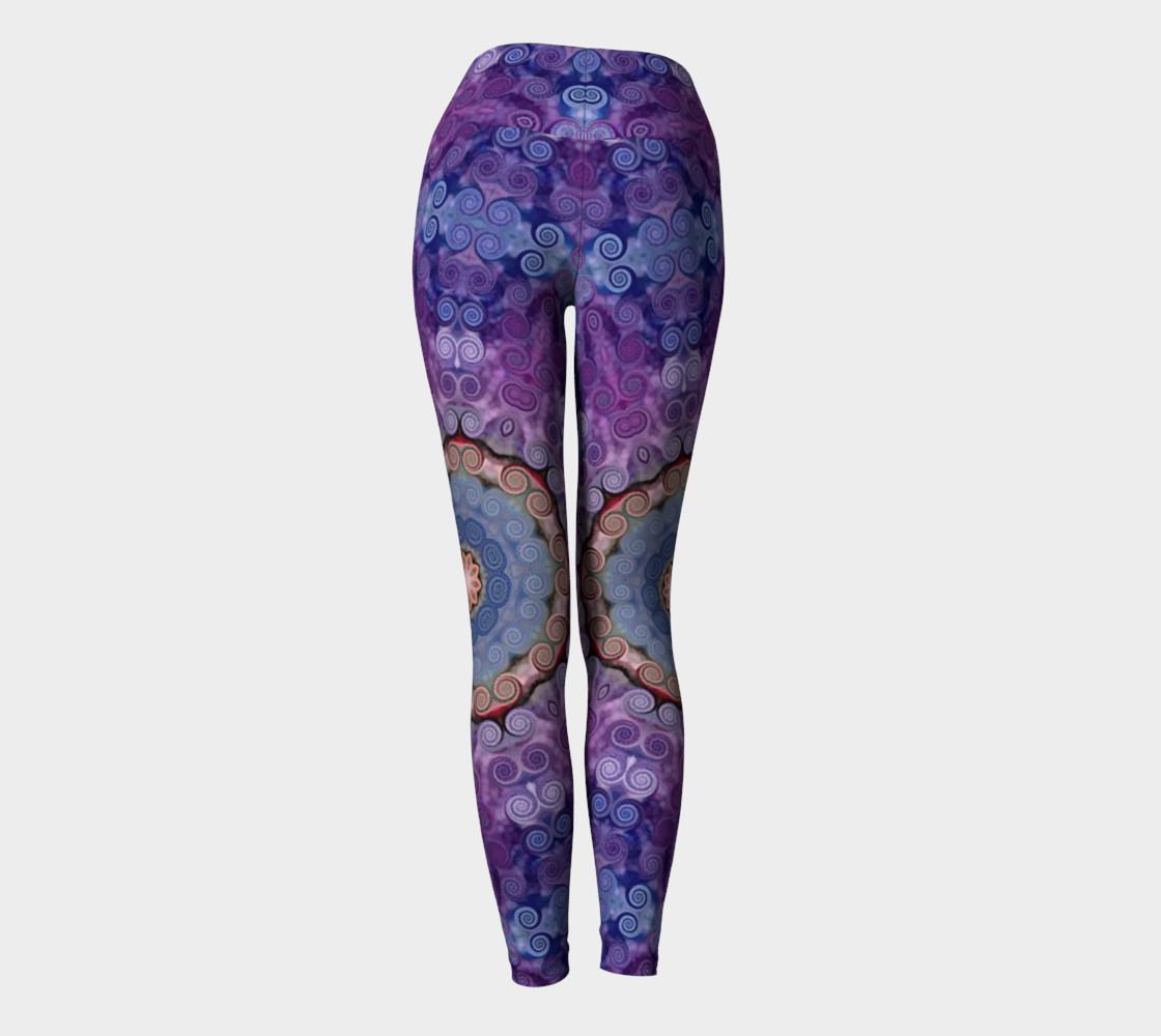 Aperçu de Purple Swirl Yoga Pants #4
