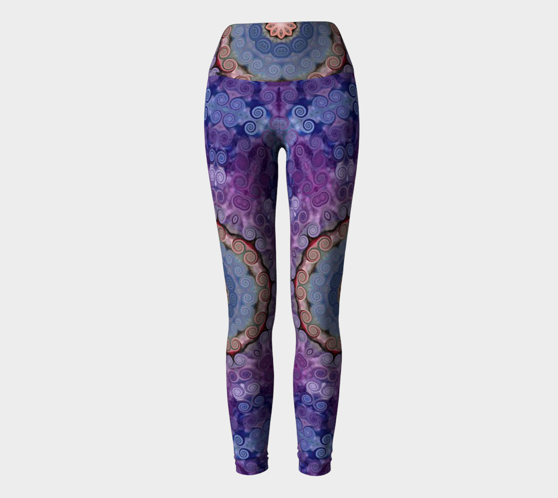Purple Swirl Yoga Pants preview #2