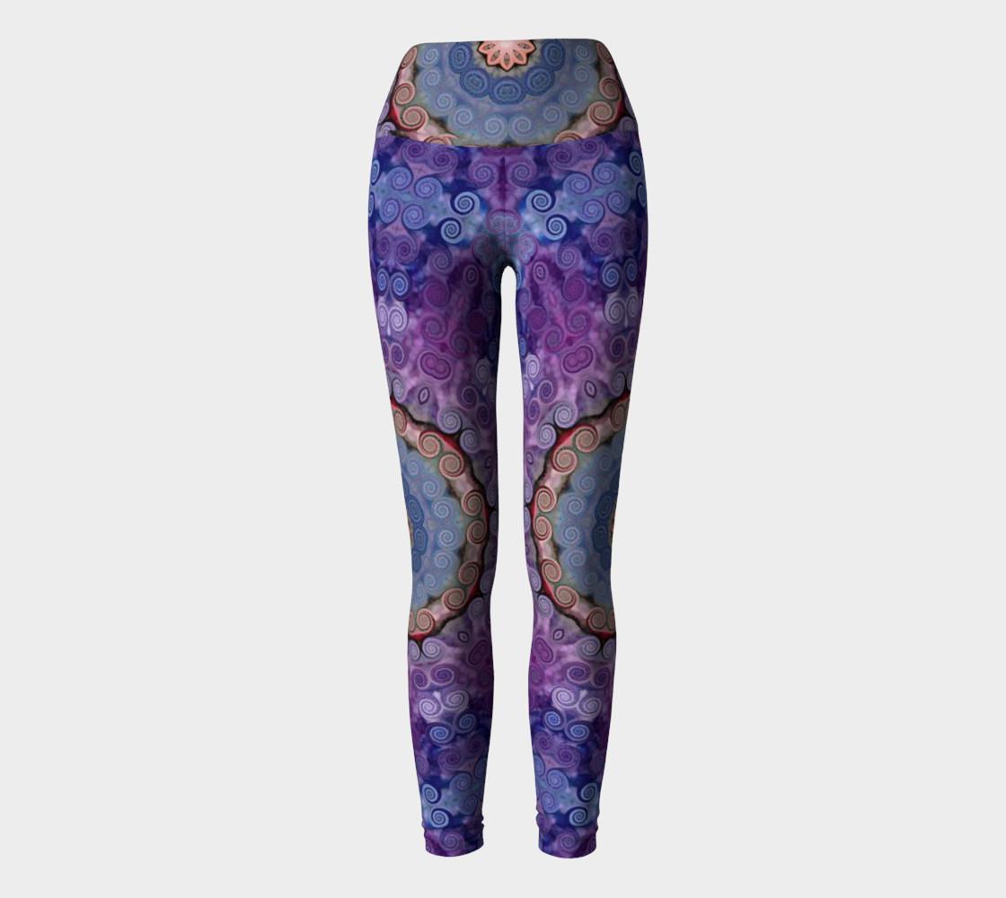 Aperçu de Purple Swirl Yoga Pants #2