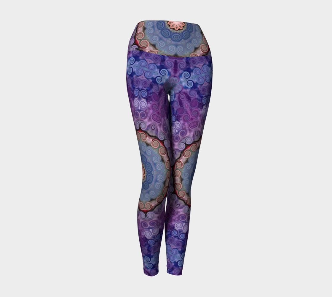 Aperçu de Purple Swirl Yoga Pants #1