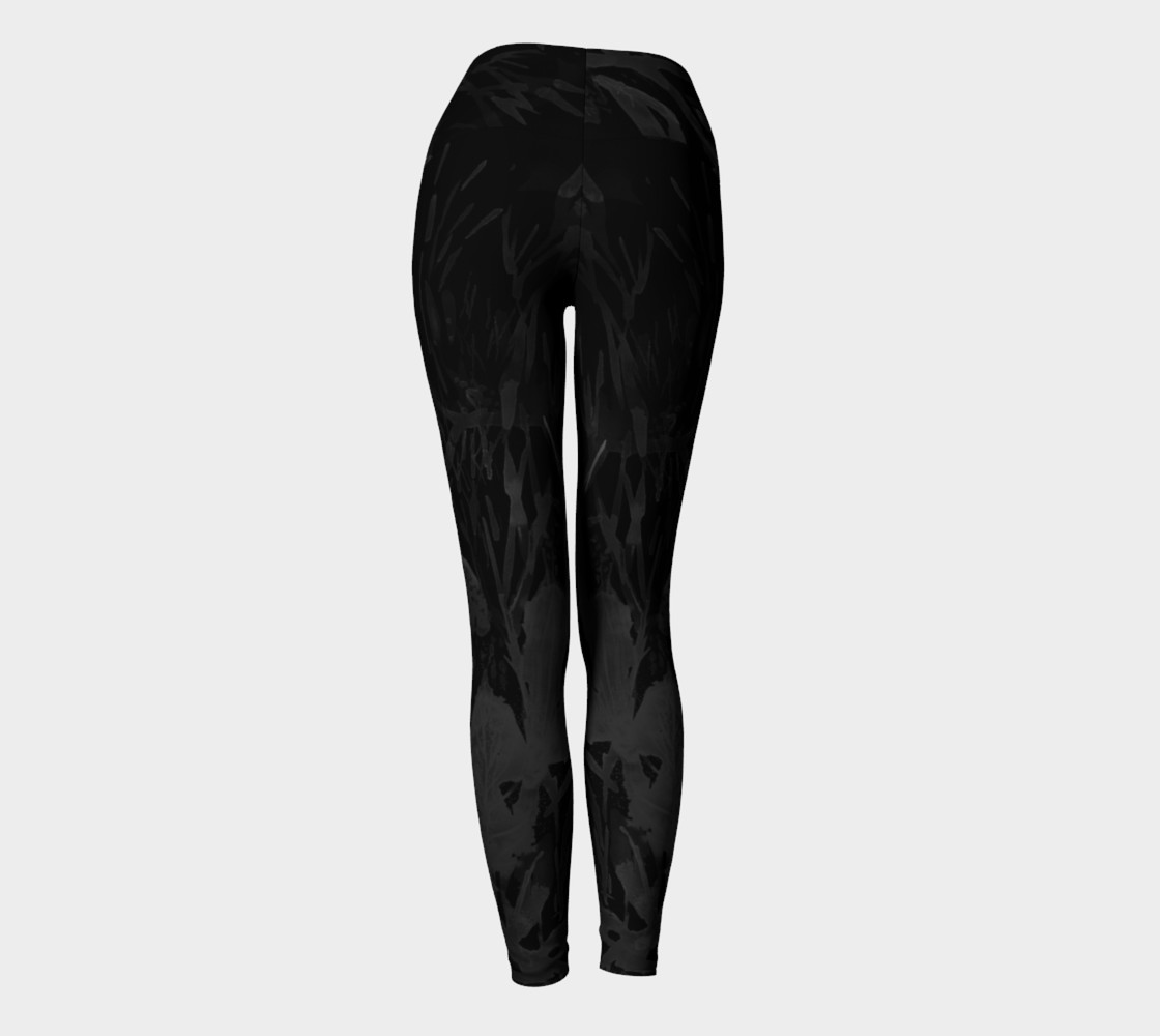 Black Sea Belle  yoga leggings Miniature #5