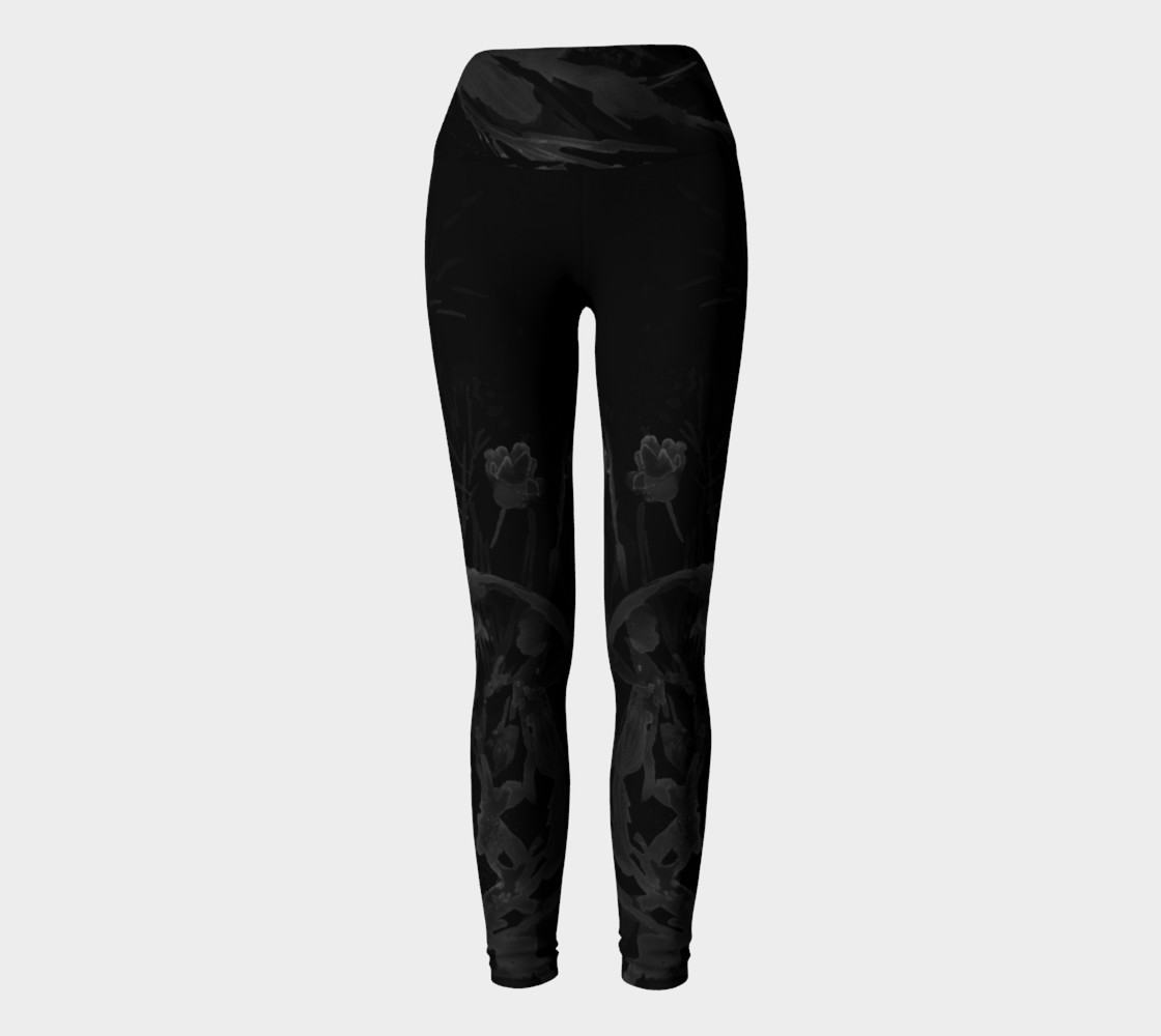 Aperçu de Black Sea Belle  yoga leggings #2