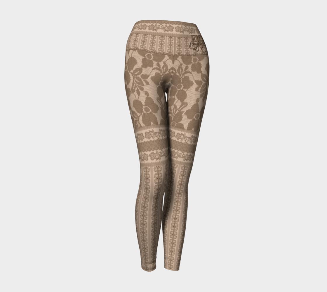 Brown Lace Yoga Leggings preview #1