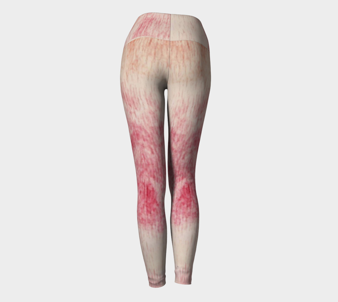 Peach Rose Yoga Leggings preview #4