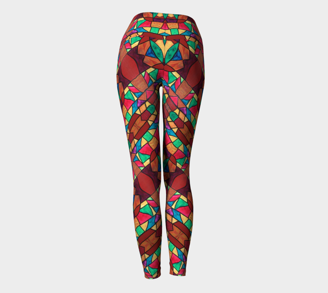 Penobscot Stained Glass Yoga Leggings Miniature #5