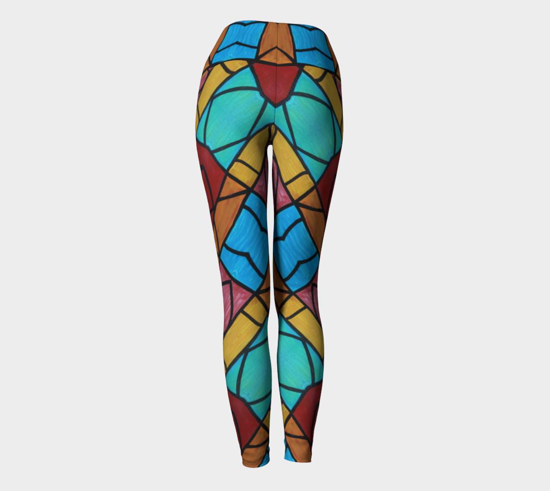 Pueblo Diamond Mosaic Yoga Leggings II preview #4