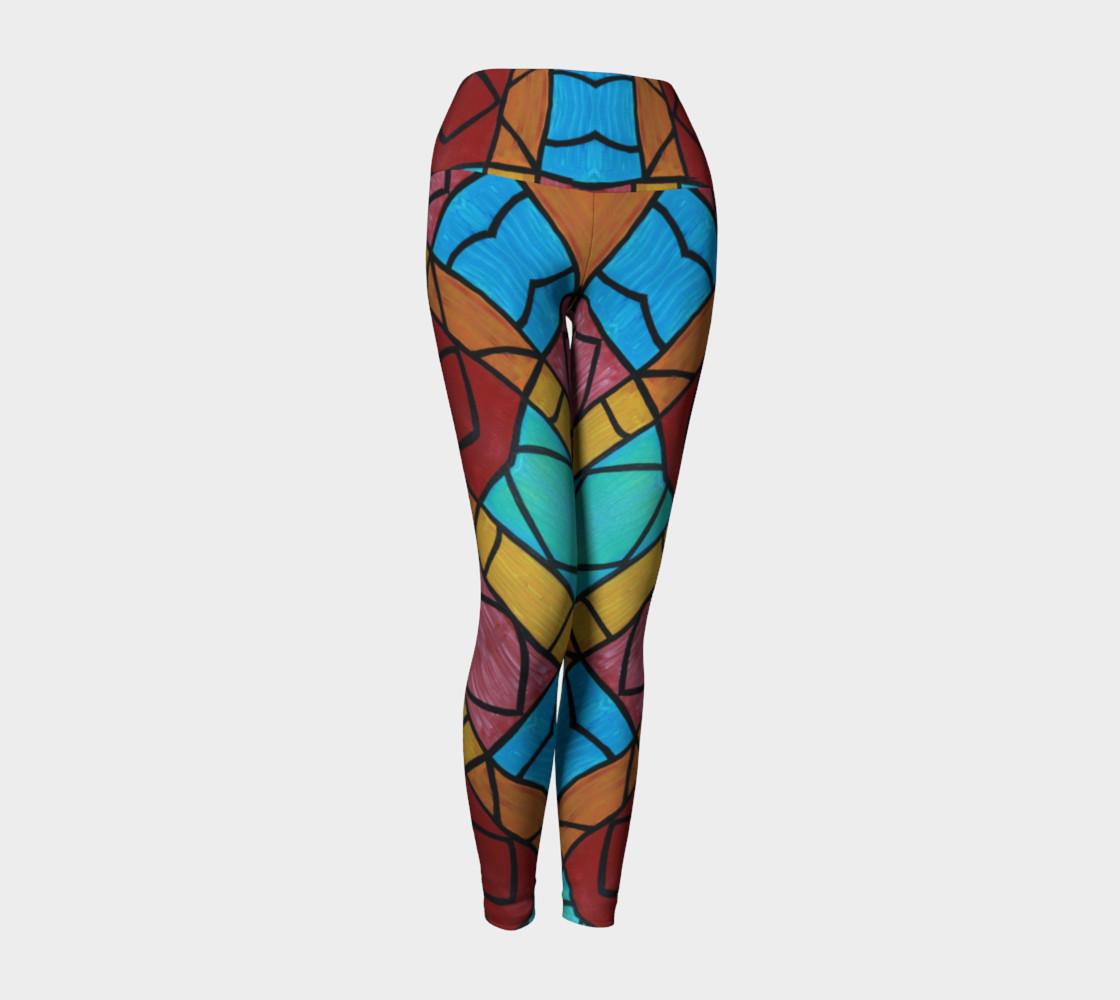 Pueblo Diamond Mosaic Yoga Leggings II preview #1