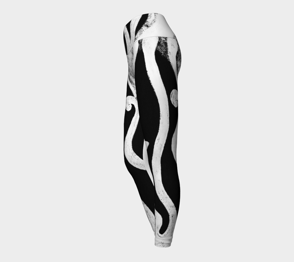 black and white leggings yoga preview #3
