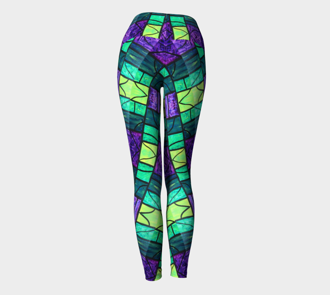 Nouveau Garden Stained Glass Yoga Leggings II preview #4