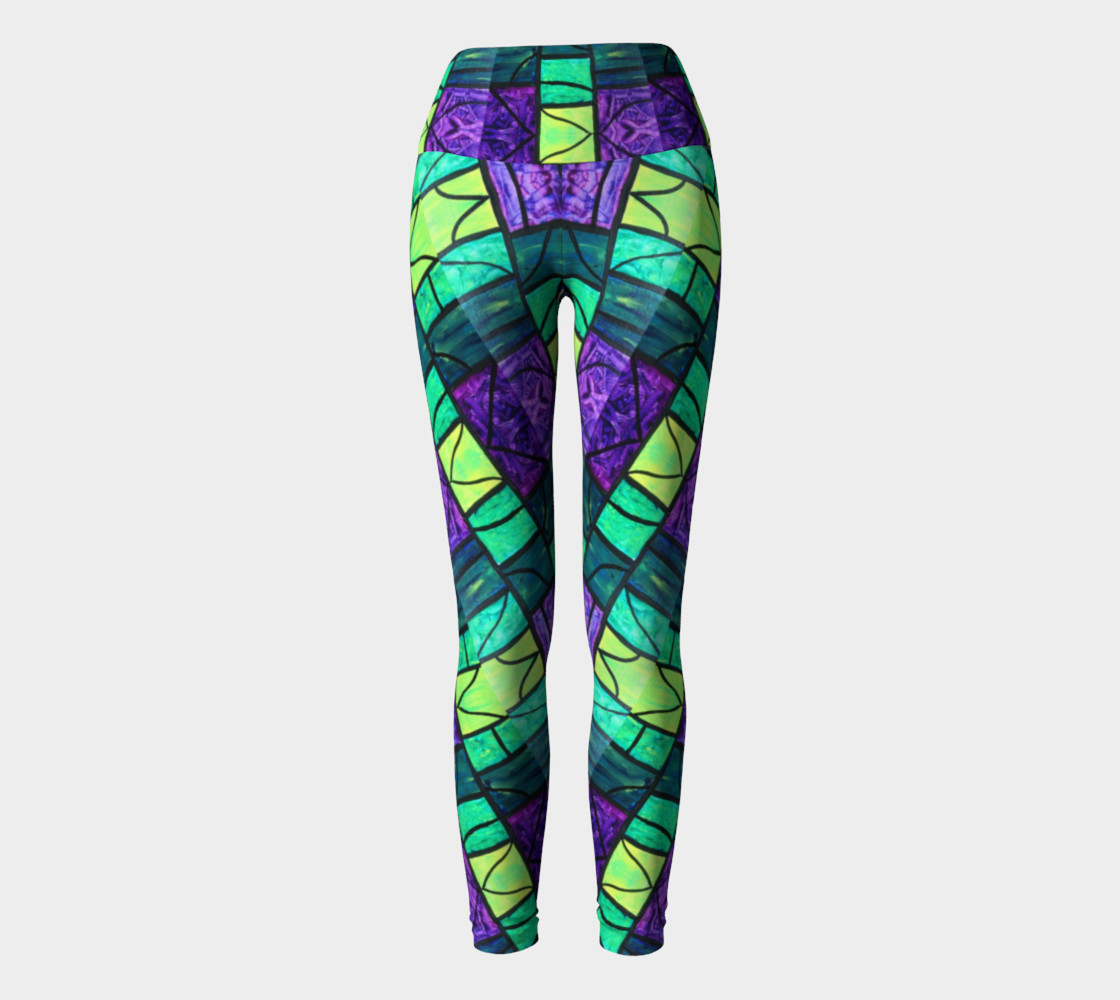 Nouveau Garden Stained Glass Yoga Leggings II preview #2