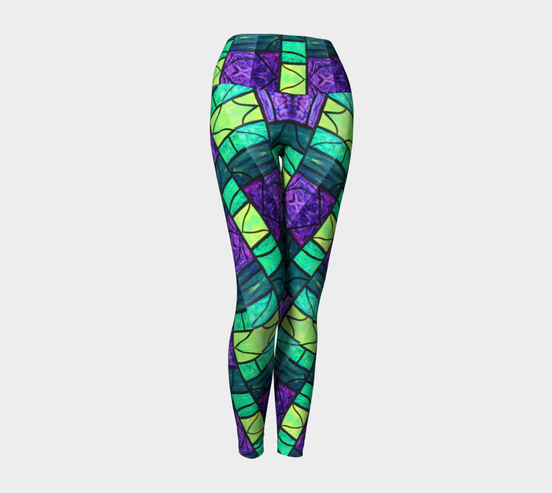 Nouveau Garden Stained Glass Yoga Leggings II preview #1