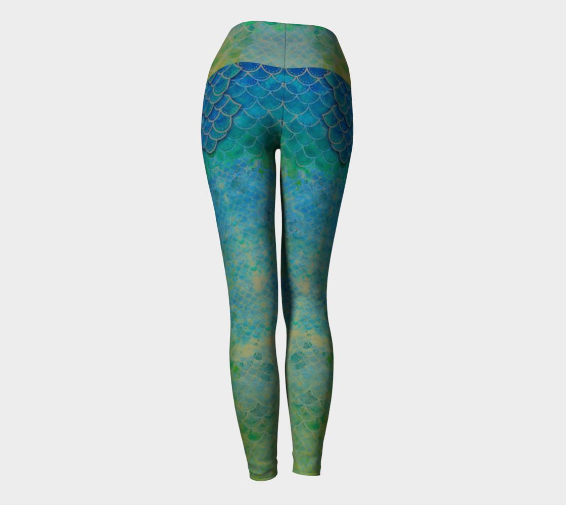 Handpainted Mermaid Leggings 5 preview #4