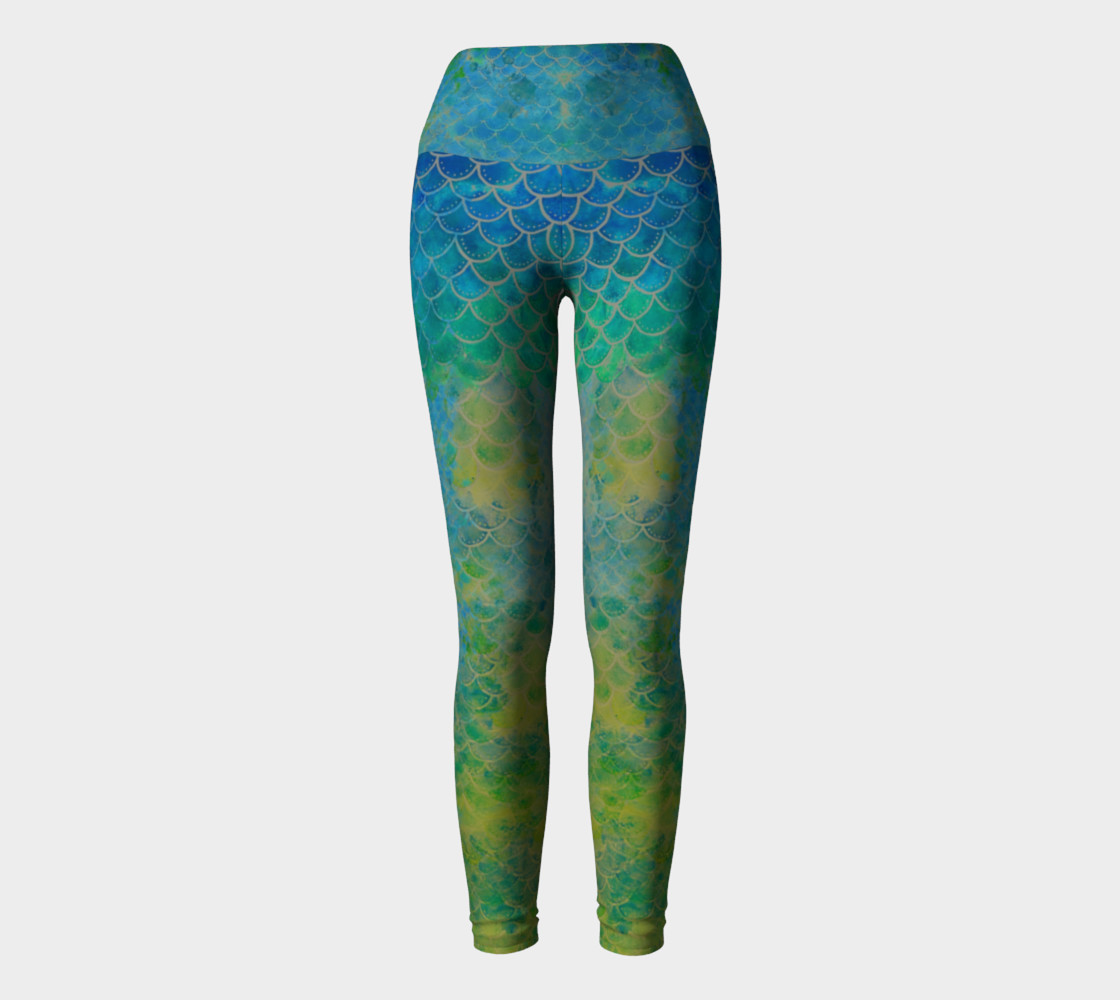 Handpainted Mermaid Leggings 5 preview #2
