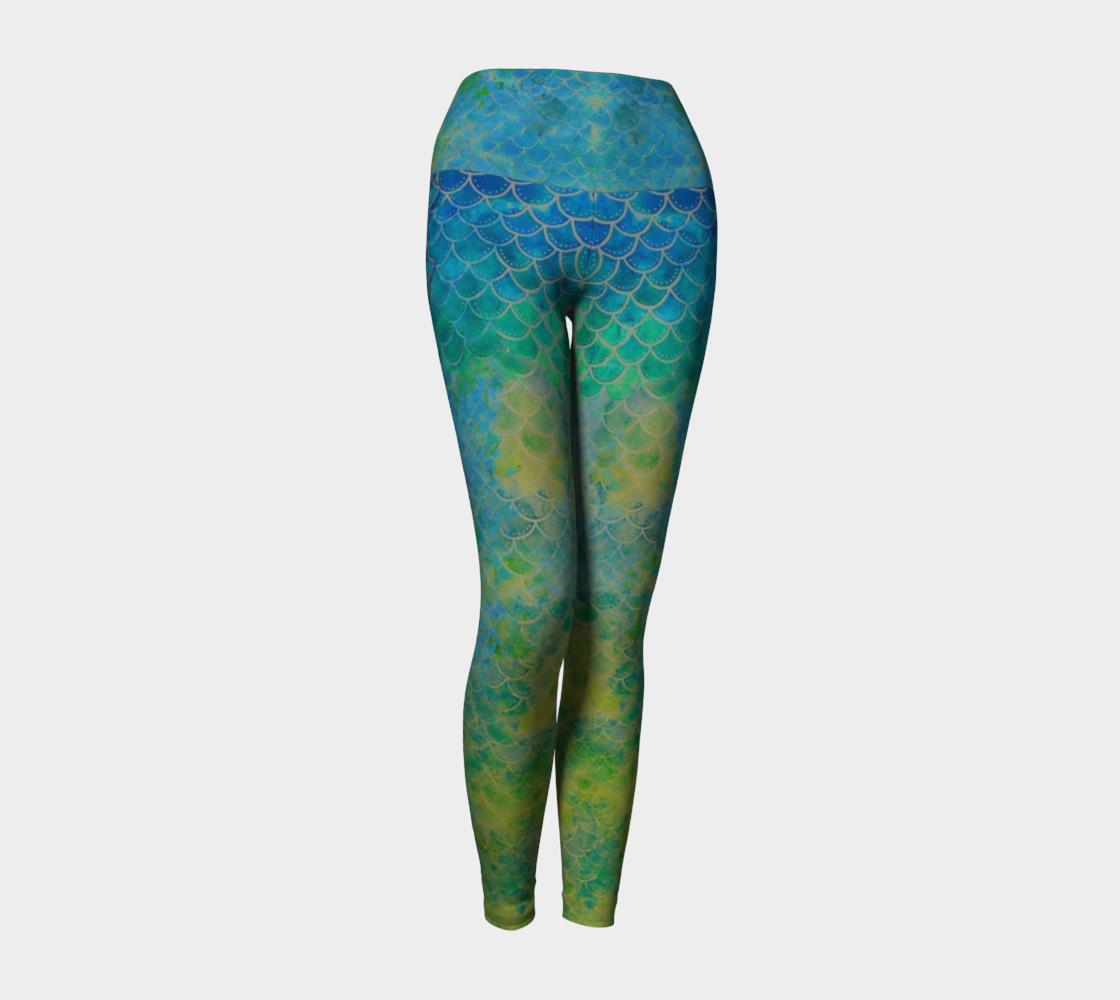 Handpainted Mermaid Leggings 5 preview #1