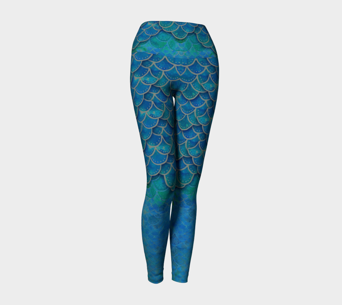 Mermaid Dragon Scale Yoga Pants No.6 preview #1