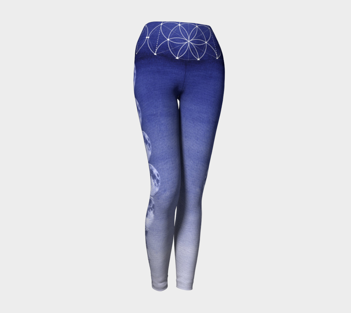 Dark Blue Ombre Moon Sacred Geometry preview #1
