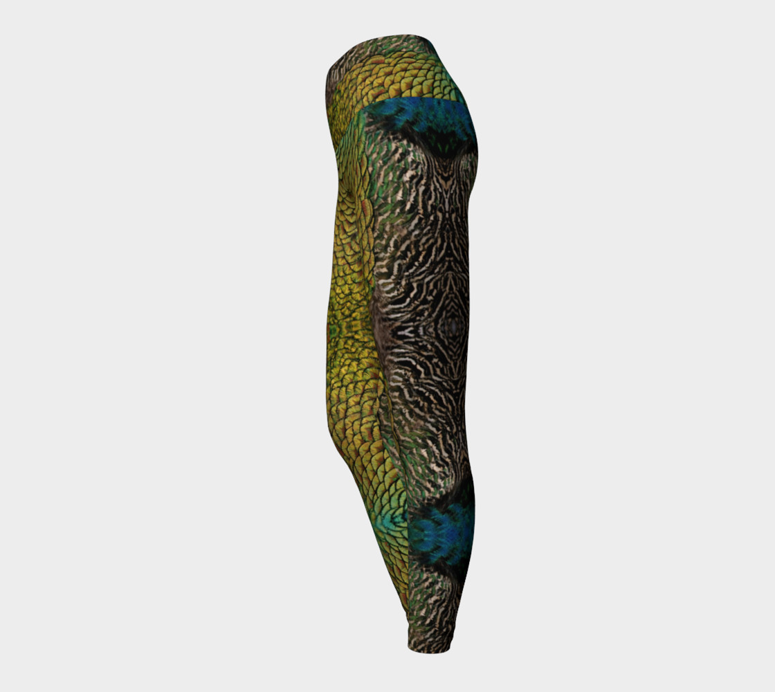 Peacock Dragon Scales Leggings 2 preview #3