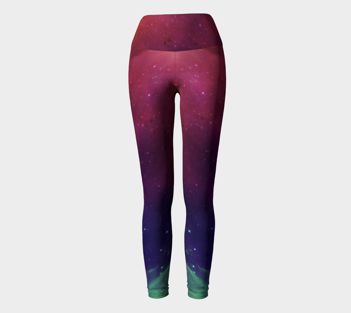 Aurora Portal Yoga Leggings by Danita Lyn preview #2