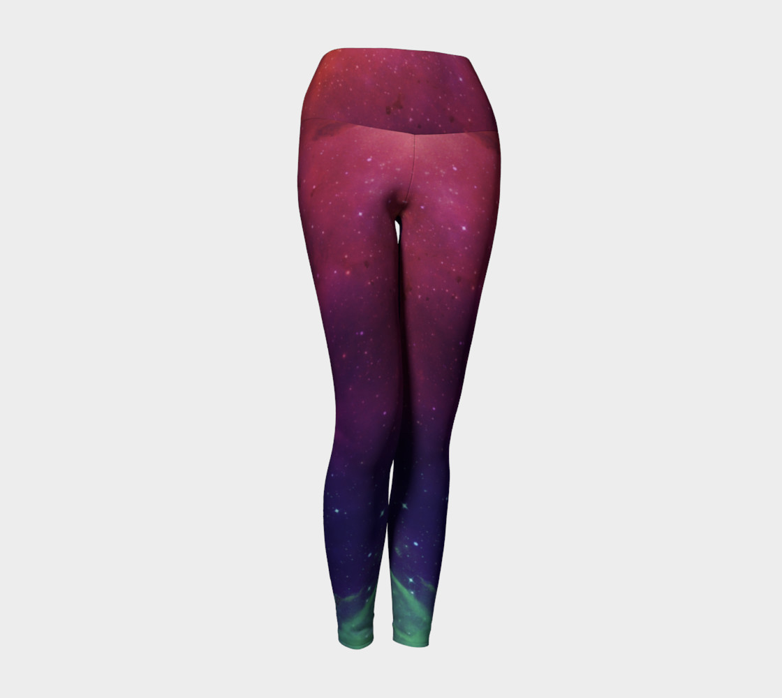 Aurora Portal Yoga Leggings by Danita Lyn preview #1