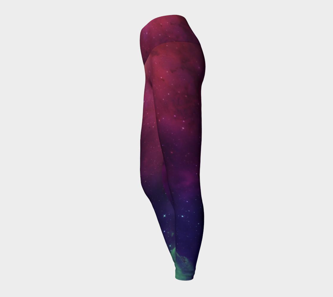 Aurora Portal Yoga Leggings by Danita Lyn preview #3