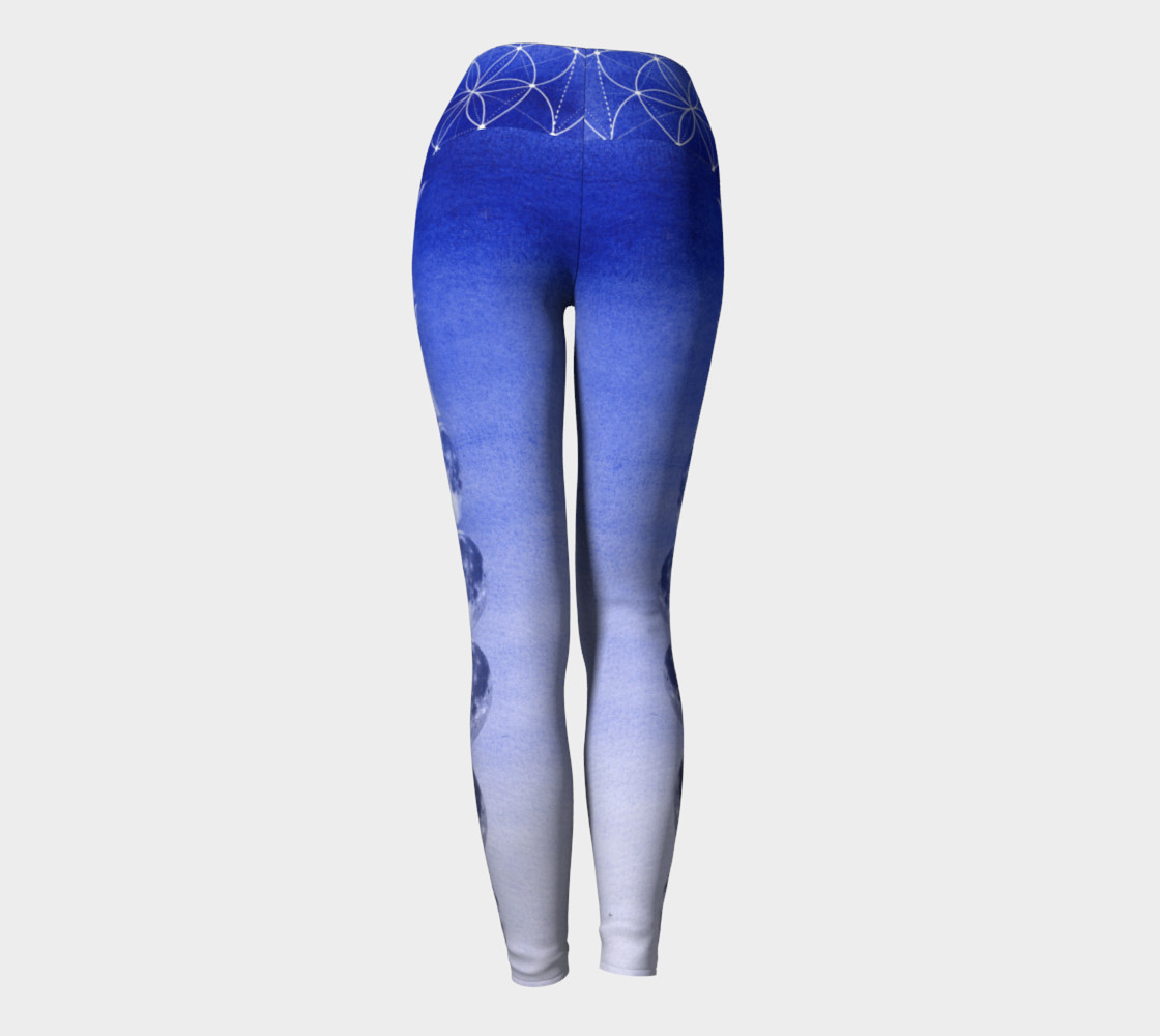 Aperçu de Royal Blue Ombre Moon Leggings #4