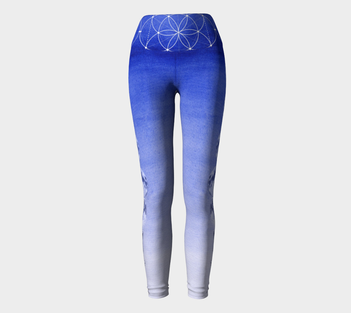 Royal Blue Ombre Moon Leggings Miniature #3