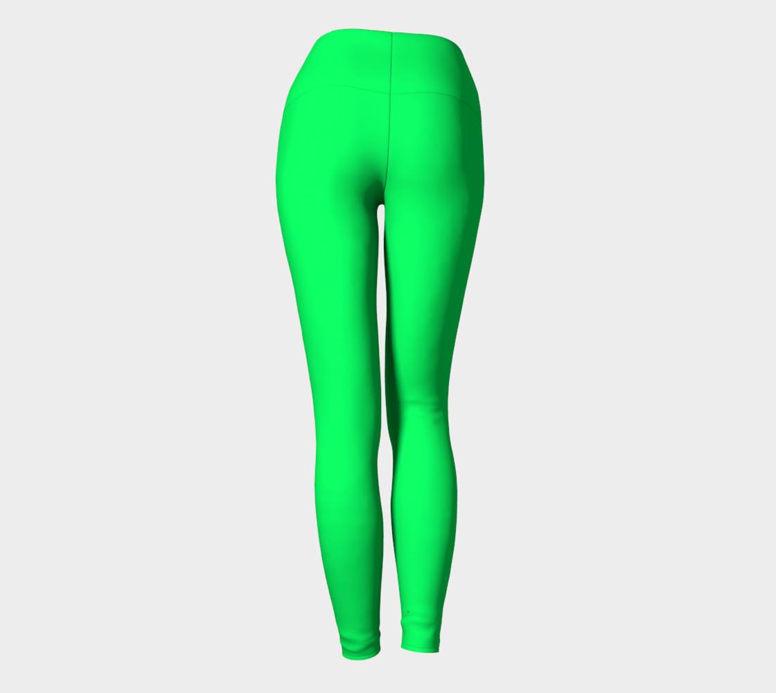 Spring Green Yoga Leggings preview #4