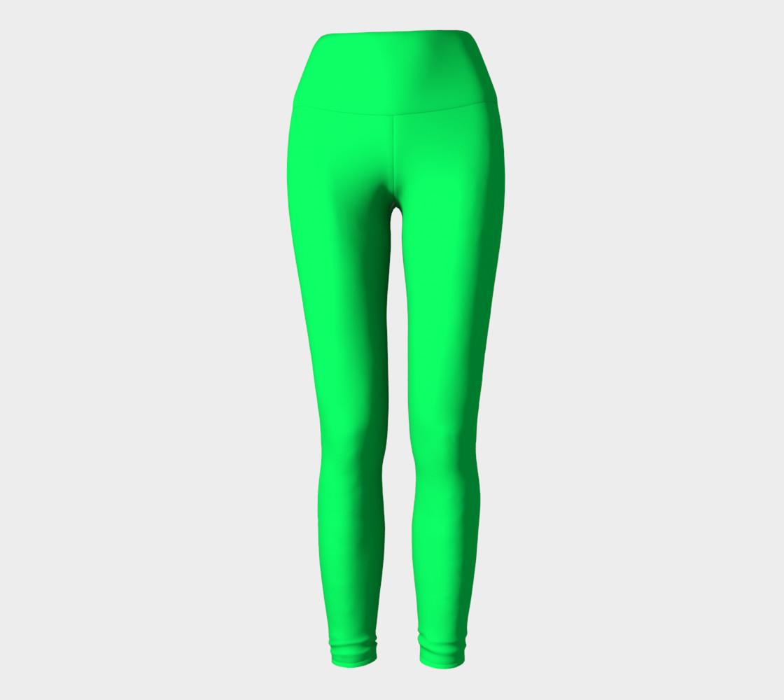 Spring Green Yoga Leggings preview #2