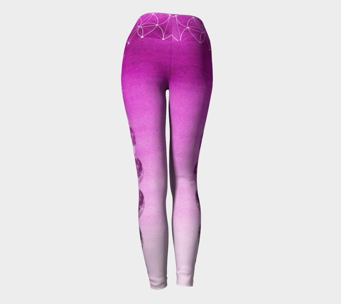 Purple ombre gradient moon phase leggings preview #4